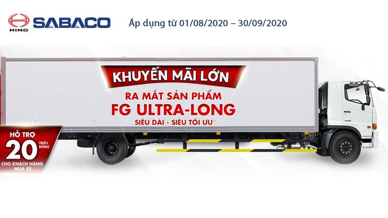 Khuyến mại lớn ra mắt xe tải Hino FG siêu dài (FG8JT7A-UTL)